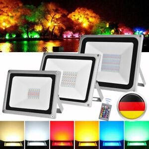 30W-50W-100W-220V-LED-Fluter-Strahler-RGB-Aussen-Flutlicht-mit-Fernbedienung-IP65