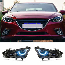 For Mazda 3 Axela Led Headlights Projector Hid Drl Replace Oem Halogen 2014 2016 Fits Mazda 3