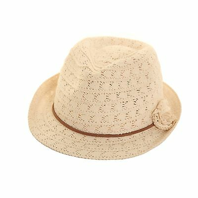 Ladies Womens  Crushable Lace Trilby Summer Sun Hat Light Weight