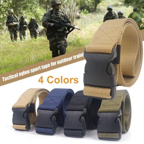 Männer Herren Militär Taktisch Belts Stoffgürtel Leinwand Nylon Schnalle Gürtel