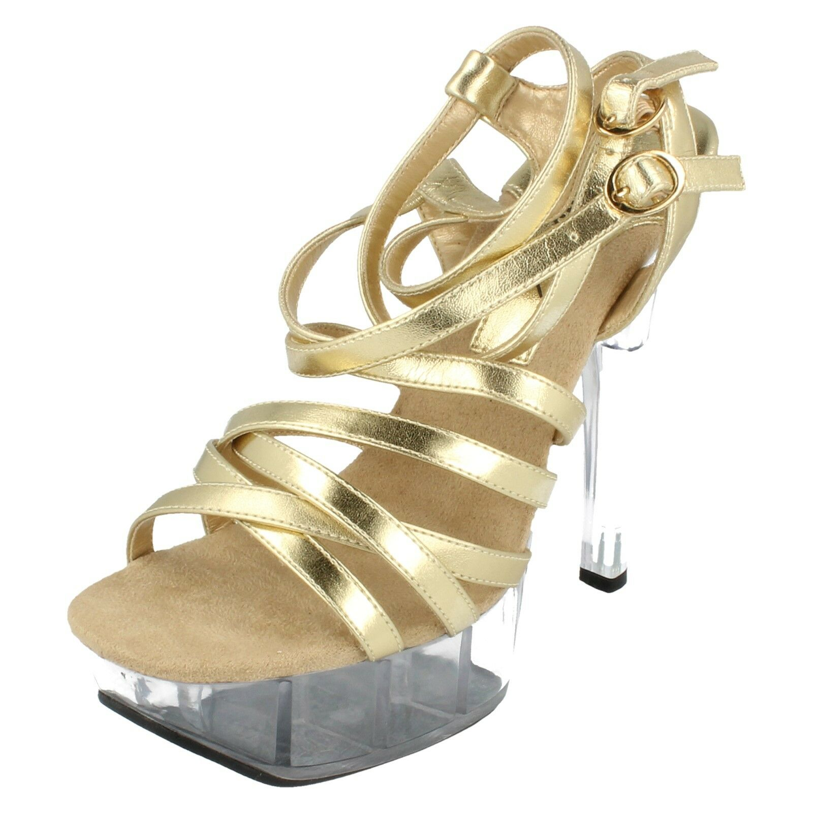 Moda jest prosta i niedroga Ladies 66048 gold/bronze heel sandals by miss Retail price