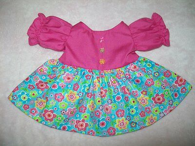 "PINK TOP DRESS W POLKA DOT SKIRT LACE+BUTTONS for 16-18/"" CPK Cabbage Patch Kids"