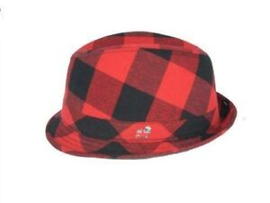 82985e313 Details about Christy's Crown Series Fedora Hat Red-Black Stingy Brim M