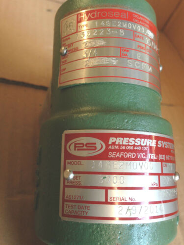 """Set Pressure 3000kpa 3//4 X1/"""" Hydroseal Industrial Pressure Relief Valve"""