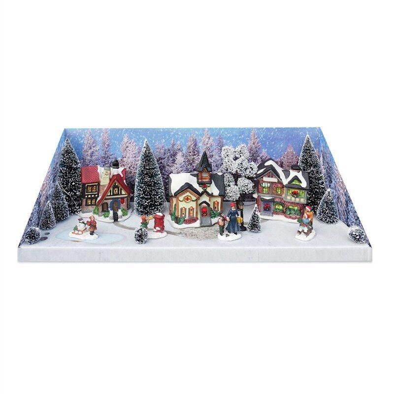 MY VILLAGE CHRISTMAS VILLAGE SCENERY 21-tlg. Weihnachtsdorf Winterdorf Modellbau