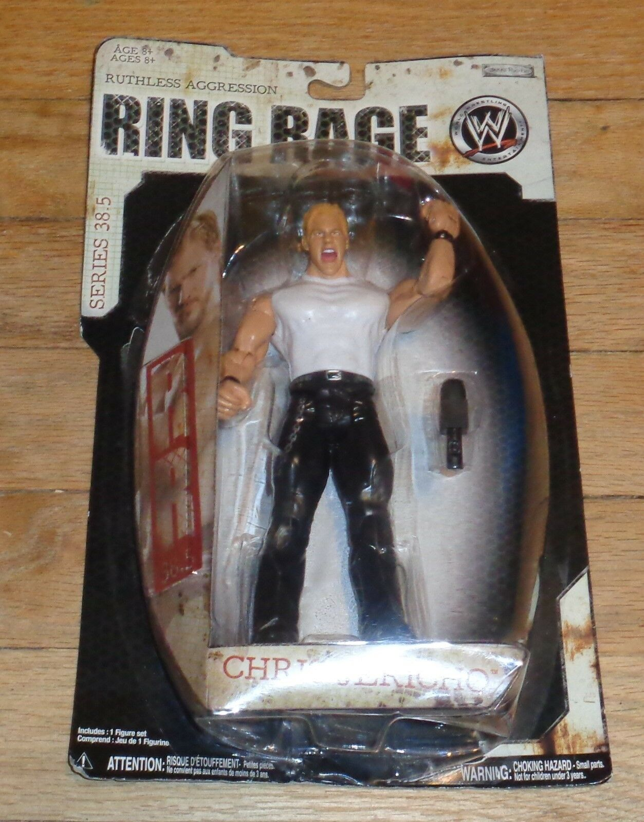 2009 WWF WWE Ring Jakks Chris Jericho Ring WWE Rage Wrestling Figure MOC WCW NJPW 7a1bea
