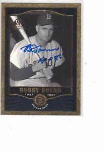 2001 SP Legendary Cuts Bobby Doerr Boston Red Sox Authentic Autograph COA