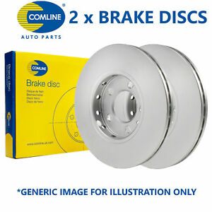 2x-Comline-257mm-Ventile-OE-Qualite-Remplacement-Frein-Disques-Paire-ADC0919V