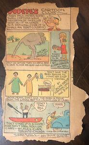 Rare-Lot-of-2-Vintage-1930-039-s-Popeye-Comic-Cartoon-Club-Newspaper-Comics
