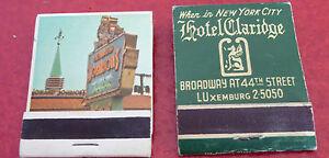 Vintage-Match-Book-Lot-of-2-Hotel-Claridge-New-York-Howard-Johnson-039-s-Motor