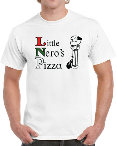 463 Little Neros Pizza Mens T-shirt pizzeria costume Christmas movie home funny