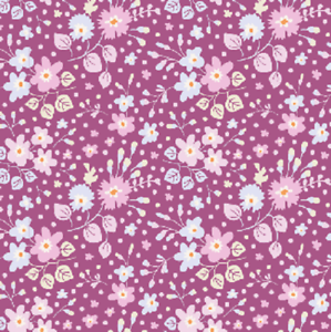 Flower Confetti Plum Cotton Fabric Tilda Plum Garden Metre//Fat Quarter