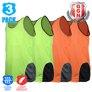 3x-HI-VIS-SINGLET-MENS-TOP-SAFETY-PANEL-WITH-PIPING-Cool-Dry-FLUORO-Work-Wear