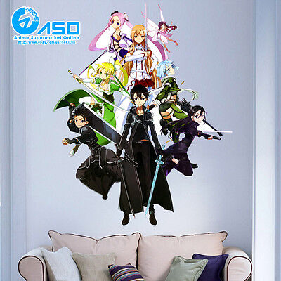 Sword Art Online Character Anime Wall Sticker home Car Wall Decal Decor sticker