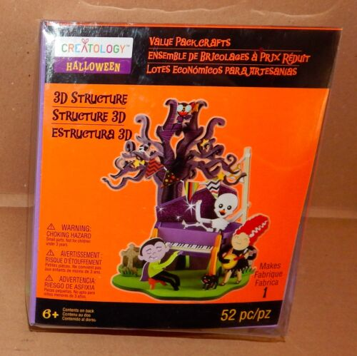 Halloween Creatology Foam 3D Structure Kit 6 52pc Haunted Music Piano Playe 37Z