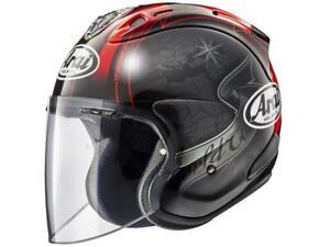 Helmet-Jet-Motorbike-Arai-Sz-R-Vas-Harada-Tour-Black-XS-XXL