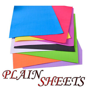 2mm Thick A4 EVA Craft fun Funky Plain Foam Sheets Choose Color and Pack Size