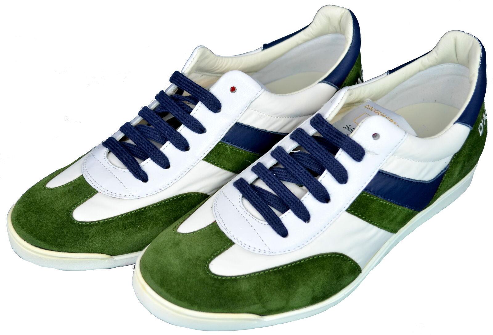 D'acquasparta Vasari Scarpe Sneakers Uomo Men  Vasari D'acquasparta T.70 WGE  White/Green 6066e2