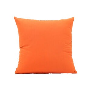 45 x 45 cm Orange Colour Sofa Throw Cushion Cover Pillow Case Home Bed Car Decor