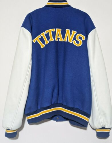 Sichel Vintage Titans Letterman Jacket Wool Leathe