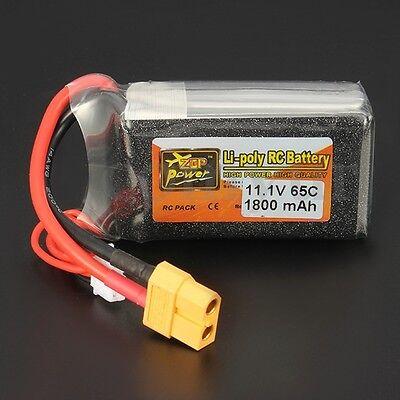 ZOP Power 11.1V 1800mAh 65C 3S Lipo Battery Akku Batterie XT60 Plug 23.5*44*68MM