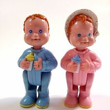 Fisher Price Loving Family Twins Dollhouse Infants Babies 1994 Boy Girl Red Hair