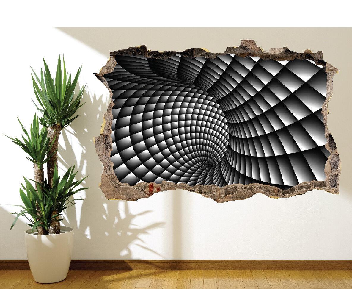 3D Abstrakt Schwarz und Weiß Wirbel Wandaufkleber Wandbild (16787762) 3D