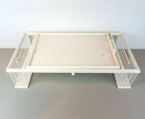 Vintage-Ronel-Co-Mid-Century-Breakfast-Bed-Tilt-Tray-Adjustable-Table-White-MCM