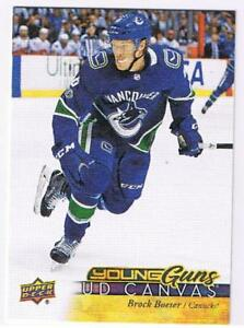 2017-18-UD-CANVAS-YOUNG-GUNS-U-PICK-FREE-COMBINED-SHIPPING-YG-RC-BOESER-MCAVOY