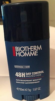 Biotherm Homme 48H Day Control Protection Stick New Full Size 1.67 oz