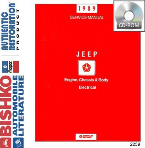 1989 Jeep Cherokee Comanche Wrangler Shop Service Repair Manual CD