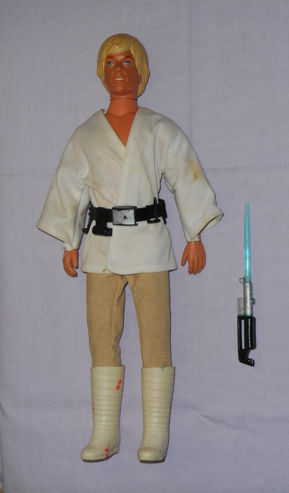 Vintage Star Wars LARGE-Dimensione (12) (12) (12) LUKE SKYWALKER figure Kenner 5306ed