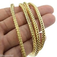 Franco Chain 36 In Long X 4mm Wide Gold Tone Mens Hip Hop Box Snake Necklace