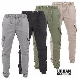 Urban-Classics-Herren-Cargo-Hose-Roehrenhose-Jeans-Sweatpant-Chino-Jogginghose