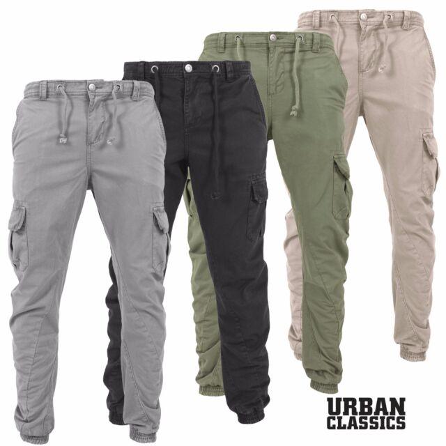 058b51635e1d2e Urban Classics Uomo Pantaloni Cargo a Sigaretta Jeans Felpati Chino Tuta
