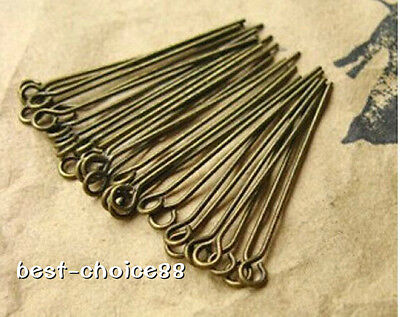 Methodical Antiqued Bronze Eye Pins Connectors 30mm,40mm,diy Jewellery Findings Free Ship Lustrous Crafts Jewelry Findings