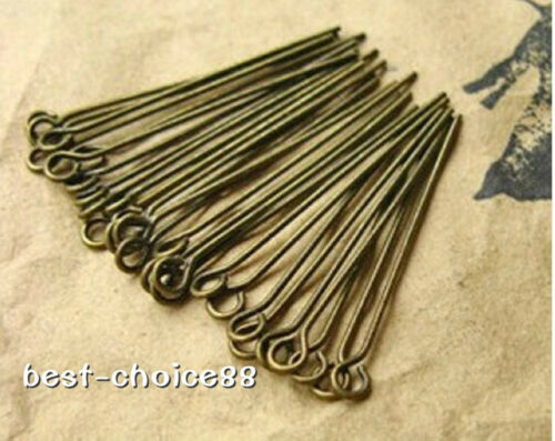 Antiqued Bronze Eye Pins Connectors 30mm,40mm,DIY Jewellery Findings Free Ship