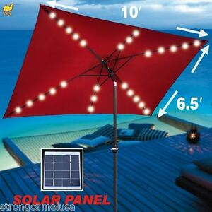 Image Result For Patio Umbrella With Solar Powered Led Lights