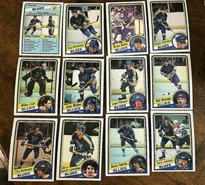 1984-85-O-Pee-Chee-SAINT-LOUIS-BLUES-12-card-team-set-lot