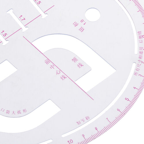 Sleeve Curve Ruler Measure Plastic for Sewing Dressmaking Tailor Drawing ToolYE