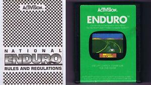ORIGINAL-Vintage-TESTED-1983-Atari-2600-Enduro-Game-Cartridge-Manual