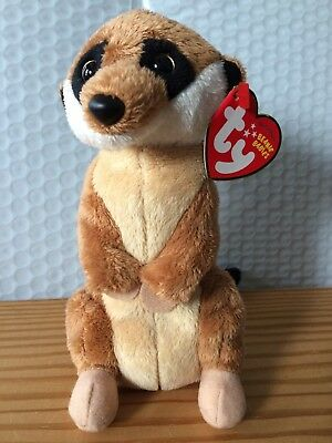 Ty Beanie Baby ~ BURROWS the Meerkat MWMT 6.5 Inch