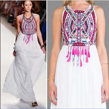 Womens Maxi Boho Floral Summer Beach Long Skirts Evening Cocktail Party Dress US