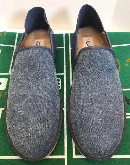 11b49250cc7 Ugg For Men Men 10 US 43 EU Cooke Canvas Navy Blue Leather Suede Wool  1014728