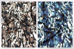 John Kaldor Abstract Animal Print Crepe Dress Fabric PeaseBlossom-3843-M