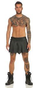Mittelalter Rock Kilt Echt Leder Schnürung seitlich  A Legionär Clubwear XS-4XL