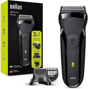 Braun Series 3 Shave&Style 300BT Afeitadora Eléctrica 3 en 1 Máquina de Afeitar