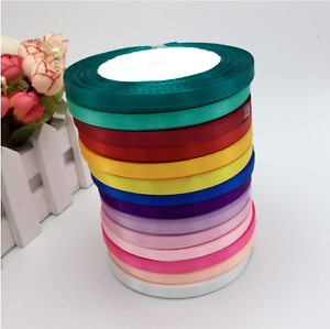 Mix-Color-10-Rolls-6mm-New-Elegant-Colorful-Satin-Ribbon-Wedding-Party-Craft-Sew
