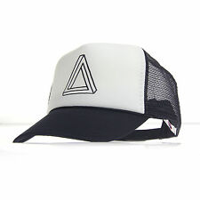 Mens Optical Illusion Triangle Pyramid Hipster Snap Back Cap Cotton Truckers Hat