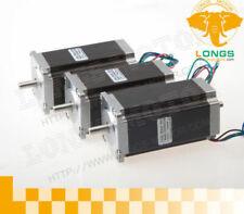 Stepper Motor 3pcs Nema 23 Dual Shaft 425 Ozin 3a Cnc 23hs9430b Cnc Router